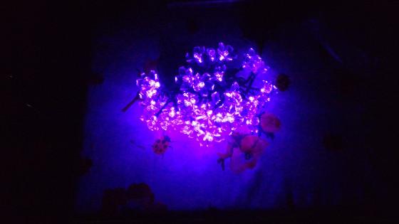 Luci led fiori viola kitlit natalizie e decorazione