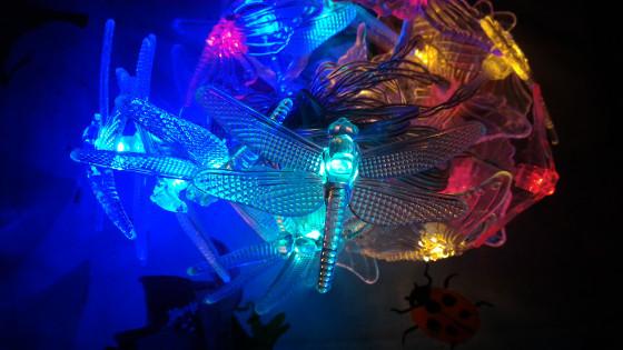 Luci libellula decorazione natale Eastalent