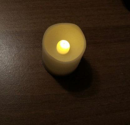 candele finte con timer Frostfire