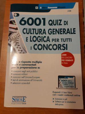 Libro quiz cultura generale e logica 6001 quiz