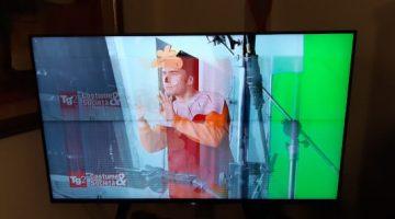Tv con immagine sdoppiata e tremolante